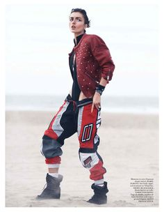 Dune: Andreea Diaconu by David Sims, stylist Emmanuelle Alt for vogue paris may 2013