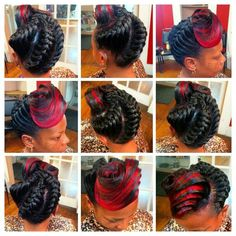 Underbraid swirled to the front