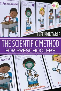 Use this free Scientific Method for Kids printable in your STEM or science center to show your young children that they Science Center Preschool, Kindergarten Science, Science Experiments Kids, Preschool Classroom, Teaching Science, Science For Kids, Science Fair, Kid Science Activities, Science For Preschoolers