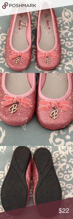Barbie ballet shoes for children Barbie Ballet Shoes NWT pink glittery sparkle size 1 Barbie Disney Shoes Flats & Loafers