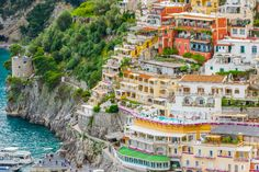 Lovely View Cliffside Village Positano Province Salerno Region Campania Amalfi S , Italy Vacation, Vacation Spots, Italy Trip, Sorrento To Positano, Southern Italy, Seaside Towns, Visit Italy, Most Beautiful Cities, Amalfi Coast