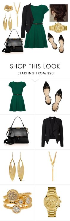"""""""Untitled #870"""" by roses-are-red1029 ❤ liked on Polyvore featuring Iska, J.Crew, Victoria Beckham, Vero Moda, Kenneth Jay Lane, BERRICLE, Melinda Maria and GUESS"""