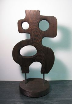 Mid Century Mod Burnt Wood Witco Style Sculpture - Cecil By SuZanna Anna @ Atomic Lodge