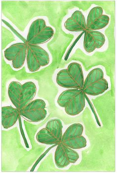 In honor of St. Patrick's Day, I've made a tutorial of my Shamrock project. If you can draw lines and hearts, then you can make this beautiful painting in honor of the holiday. Just save a few dollars for a gold paint marker because they really add a special touch. • View and download Shamrock Tutorial