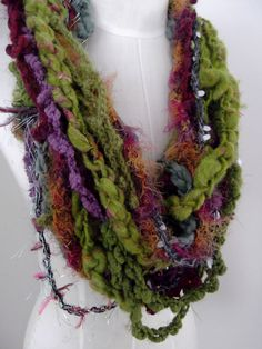 Hand Crocheted  Little Loop Necklace Scarf  Collar by plumfish, $45.00