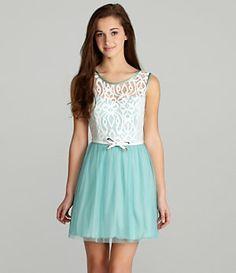 I.N. San Francisco Belted Lace Dress | Dillard's Mobile