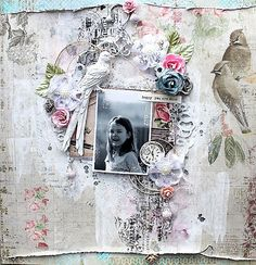 """Happy you are mine **Swirlydoos Scrapbook Kit Club** - Swirlydoos Kit Club, and the January kit """"Bejeweled"""" is amazingly beautiful, featuring Blue Fern Studios Sanctuary collection. More pics in my blog: http://willeascrappar.blogspot.com"""