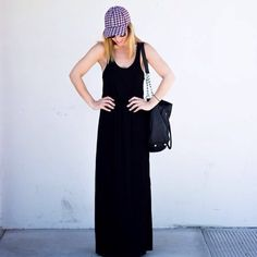 Black Maxi Dress Black Maxi Dress is perfect for everything. All it needs are accessories. Hat, pendants, kimono. Black maxi is your kimonos best friend✨absolutely no returns ✨ photo credit is insta #blogger @clothesandquotesblog. Cute combo✨we love this looksize chart coming soon. Material is perfection - light w great coverage  Dresses Maxi