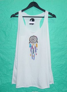 6bc8111059ae0 Long Tank top size S White Dream catcher tank by BlackTeenFashion. Long Tank  TopsCute ...
