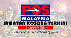 Jawatan Kosong di POS Malaysia Berhad - 17 Aug 2016   Pos Malaysia Berhad is a Public Listed Company on the Main Board of Bursa Malaysia. We employ more than 16000 people at more than 700 outlets reaching more than 6 million addresses nationwide.With a solid financial standing we continue to deliver to our stakeholders the good performance that is expected of us year in and year out.  Jawatan Kosong Terkini 2016diPOS Malaysia Berhad  Positions:1.Assistant Executive Designs & CreativeClosing…