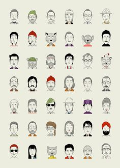 The Characters of Wes Anderson Illustrations – Fubiz™