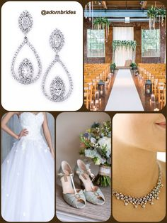 "Floral vintage wedding ideas featuring our Spencer necklace and Middleton earrings! Use the code ""pinterest10"" for 10% off your jewelry rental!!"
