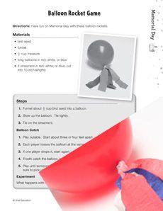 Make exciting bird seed balloon rockets this #MemorialDay! #socialstudies Grade: 3-5
