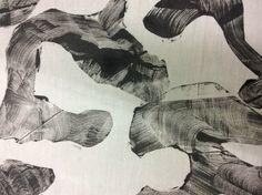 Impressão sobre tecido, de matrizes em relevo ( trabalho de estudante )