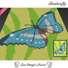 Butterfly C2C Crochet Graph | Craftsy