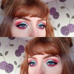 "50 gilla-markeringar, 2 kommentarer - Lucy (@lucy_anna) på Instagram: ""Love combining blue and pink  ▪ ▪ ▪ #makeup #eyes #eyeshadow #makeupjunkie #makeuplover…"""
