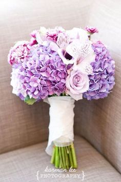Nog 10 ideeën voor je bord bruidsboeket met lila of paars