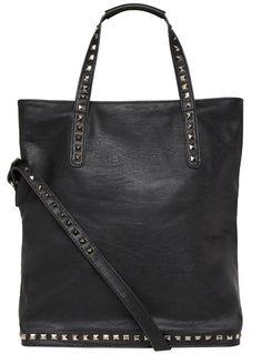 Evans Black Studded Shopper Bag - View All Sale  - Sale & Offers