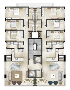 3d House Plans, Model House Plan, House Layout Plans, House Blueprints, House Layouts, Dorm Room Layouts, Dorm Layout, Home Building Design, Home Design Plans