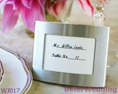 Aliexpress.com : Buy Aliexpress wholesale WJ017 Place holder Elegant Wedding Favor(Silver)used as Place card holder from Reliable Wedding Reception Favors suppliers on Your Unique Wedding Favors $85.00