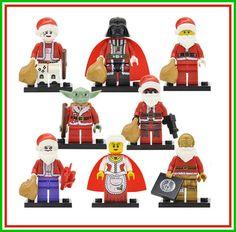 Custom Mini Figures,Christmas Block Toys,Cake Topper,Star Wars Minifigures,Darth Vader,Yoda,C3PO,DC Comics Santa Figure by KandiKatz on Etsy