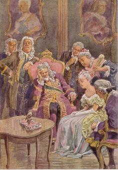 """""""Der Schweinehirt"""" - Illustration zu Grimms Märchen, von Professor Paul Hey, Maler, Grafiker und Illustrator (19.10.1867 in München - 14.10.1952 Gauting)"""