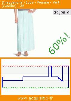 Sinequanone - Jupe - Femme - Vert (Caraïbe) - 36 (Vêtements). Réduction de 60%! Prix actuel 39,96 €, l'ancien prix était de 99,90 €. http://www.adquisitio.fr/sinequanone/jupe-femme-vert-cara%C3%AFbe