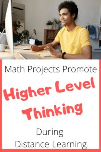 Give kids a hand with higher level thinking with this recently updated for distance learning Google Slide Math Projects.