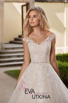Wedding Dresses For Girls, Wedding Dress Styles, Bridal Dresses, Drop Waist Wedding Dress, Aire Barcelona Wedding Dresses, A Line Bridal Gowns, Beautiful Wedding Gowns, Marie, Dress Wedding