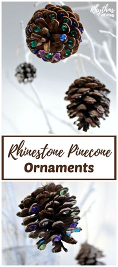 Add a little rustic bling to your Christmas tree with DIY rhinestone pinecone ornaments! An easy kid-made book-inspired Christmas nature craft kids and adults both enjoy crafting for the holidays. Easy Crafts, Easy Diy, Crafts For Kids, Craft Kids, Teen Crafts, Kids Diy, Diy Locker, Christmas Trees For Kids, Diy Wood Wall