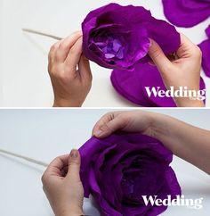 Необычный декор: гигантский бумажный цветок - Цветы из ткани и бумаги