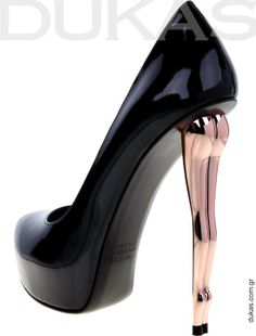 Dukas AW 2011-12 Collection: Modern Sculpture,  High heels by Greek designer Dukas Hatzidoukas