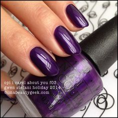 OPI I Carol About You F03 Gwen Stefani Holiday 2014 ©imabeautygeek.com for full collection swatches!
