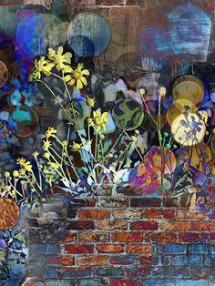 Sunflower Graffiti Print By Lisa S Baker