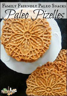 Family Friendly Paleo Snacks l Plus a Paleo Pizzelle Recipe l Homestead Lady.com