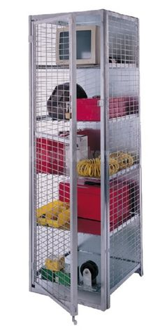 Standard Storage Lockers for sale! wide x deep x high) Include four adjustable galvanized sheet metal shelves perfect for stowing away tools equipment ...  sc 1 st  Pinterest & Basket Lockers for sale! This unit is 8 lockers high by 4 lockers ...