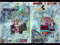 Journal Pages (Start to finish) by Lizzy using Lindy's Stamp Gang!