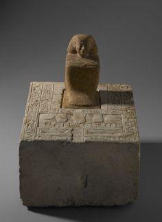 Statue of Ipepy | Medium: Quartzite, limestone Place Found: Faiyum, Egypt Dates: ca. 1870-1750 B.C.E. Dynasty: late XII Dynasty-early XIII Dynasty Period: Middle Kingdom-Second Intermediate Period - Brooklyn Museum