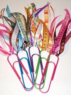 Cute - cheap! - homemade bookmarks