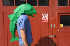 For Halloween: Awesome 3D Geometric Animal Masks You Can Easily Assemble - DesignTAXI.com