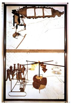Marcel Duchamp: The Large Glass - The Bride Stripped Bare by Her Bachelors, Even, Philadelphia Museum of Art Photo Illusion, Hans Richter, Modern Art, Contemporary Art, Artist Birthday, Piet Mondrian, Philadelphia Museum Of Art, Action Painting, Conceptual Art