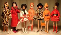 Dawn dolls. I recently tossed my Dawn doll fashion show stage....WHAT WAS I THINKING???  It's my family's fault, something about me being a hoarder and putting me on that horrible show.... LOL