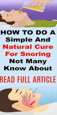 A Simple And Natural Cure For Snoring – Not Many Know About This!