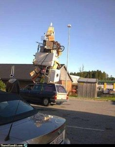 They must have one very tall ladder.