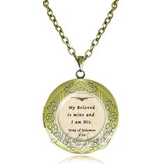 My beloved is mine Song of Soloman 2:16 locket by House of Ethical