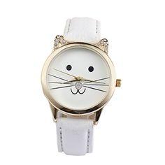 $2.19 (Buy here: https://alitems.com/g/1e8d114494ebda23ff8b16525dc3e8/?i=5&ulp=https%3A%2F%2Fwww.aliexpress.com%2Fitem%2FCats-Face-Watch-2015-Fashion-Couple-Watch-Neutral-Diamond-Lovely-Cute-Women-Faux-Leather-Quartz-4%2F32347293491.html ) Cats Face Watch 2015 Fashion Couple Watch Neutral Diamond Lovely  Cute Women Faux Leather Quartz 4 Colors Free Shipping for just $2.19
