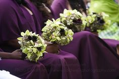 Good Morning!    Here are some pretty bridesmaids with their lovely bouquets, made by yours truly!    ♥  Kismet Events  #summerwedding #bridalbouquet #bridesmaidsbouquets #wedding
