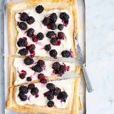 Blackberry mascarpone tart