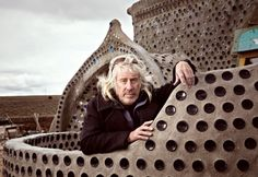 this man has been building houses from water bottles, beer cans, and dirt-filled rubber tyres for 30 years. the house can stand -30 F without a heating or cooling system.