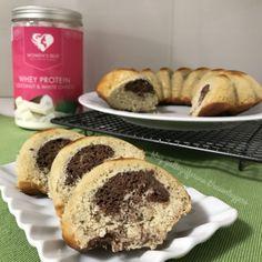 Ciambellone proteico al cocco e cacao – A Cuor Leggero Whey Protein, Cacao, French Toast, Muffin, Food And Drink, Dessert, Breakfast, Sweet, Recipes